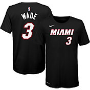 Nike Youth Miami Heat Dwyane Wade #3 Black T-Shirt
