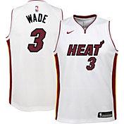 Nike Youth Miami Heat Dwyane Wade #3 Dri-FIT Association Edition Swingman White Jersey