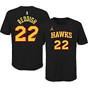 Jordan Youth Atlanta Hawks Cam Reddish #22 Statement Black T-Shirt
