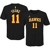 Jordan Youth Atlanta Hawks Trae Young #11 Statement Black T-Shirt