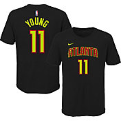 Nike Youth Atlanta Hawks Trae Young #11 Dri-FIT Black T-Shirt