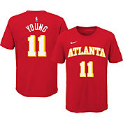 Nike Youth Atlanta Hawks Trae Young #11 Red Cotton T-Shirt