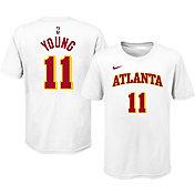 Nike Youth Atlanta Hawks Trae Young #11 Cotton White T-Shirt
