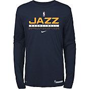 Nike Youth Utah Jazz Practice Performance Long Sleeve T-Shirt