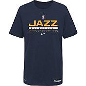 Nike Youth Utah Jazz Blue Practice Performance T-Shirt