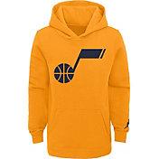 Jordan Youth Utah Jazz Yellow Statement Pullover Hoodie