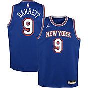 Jordan Youth New York Knicks RJ Barrett #9 Blue 2020-21 Dri-FIT Statement Swingman Jersey
