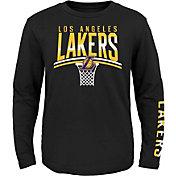 Nike Youth Los Angeles Lakers Spotlight Black Long Sleeve T-Shirt