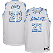 Nike Youth 2020-21 City Edition Los Angeles Lakers LeBron James #23 Dri-FIT Swingman Jersey