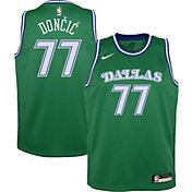 Nike Youth Dallas Mavericks Luka Doncic #77 Green Dri-FIT Hardwood Classic Jersey