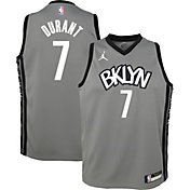Jordan Youth Brooklyn Nets Kevin Durant #7 Grey 2020-21 Dri-FIT Statement Swingman Jersey
