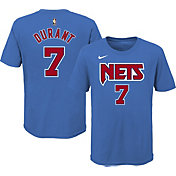 Nike Youth Brooklyn Nets Kevin Durant #7 Blue Hardwood Classic T-Shirt