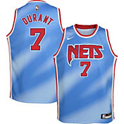 Nike Youth Brooklyn Nets Kevin Durant #7 Blue Dri-FIT Hardwood Classic Jersey