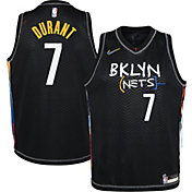 Nike Youth 2020-21 City Edition Brooklyn Nets Kevin Durant #7 Dri-FIT Swingman Jersey