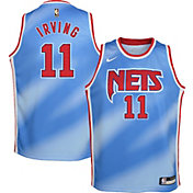 Nike Youth Brooklyn Nets Kyrie Irving #11 Blue Dri-FIT Hardwood Classic Jersey