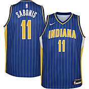 Nike Youth 2020-21 City Edition Indiana Pacers Domantas Sabonis #11 Dri-FIT Swingman Jersey