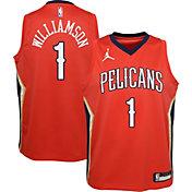 Jordan Youth New Orleans Pelicans Zion Williamson #1 Red 2020-21 Dri-FIT Statement Swingman Jersey