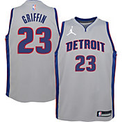 Jordan Youth Detroit Pistons Blake Griffin #23 Grey 2020-21 Dri-FIT Statement Swingman Jersey