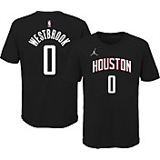 Jordan Youth Houston Rockets Russell Westbrook #0 Statement Black T-Shirt