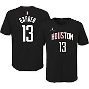 Jordan Youth Houston Rockets James Harden #13 Statement Black T-Shirt