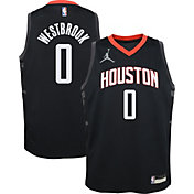 Jordan Youth Houston Rockets Russell Westbrook #0 2020-21 Dri-FIT Statement Swingman Black Jersey