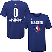 Jordan Youth 2020 NBA All-Star Game Russell Westbrook Dri-FIT Blue T-Shirt