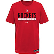Nike Youth Houston Rockets Red Practice Performance T-Shirt