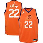 Jordan Youth Phoenix Suns Deandre Ayton #22 Orange 2020-21 Dri-FIT Statement Swingman Jersey