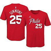 Jordan Youth Philadelphia 76ers Ben Simmons #25 Red Statement T-Shirt