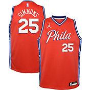 Jordan Youth Philadelphia 76ers Ben Simmons #25 Red 2020-21 Dri-FIT Statement Swingman Jersey
