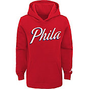 Jordan Youth Philadelphia 76ers Red Statement Pullover Hoodie