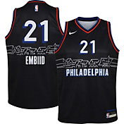 Nike Youth 2020-21 City Edition Philadelphia 76ers Joel Embiid #21 Dri-FIT Swingman Jersey