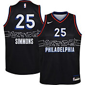 Nike Youth 2020-21 City Edition Philadelphia 76ers Ben Simmons #25 Dri-FIT Swingman Jersey