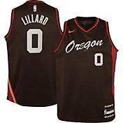Nike Youth 2020-21 City Edition Portland Trail Blazers Damian Lillard #0 Dri-FIT Swingman Jersey