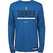 Nike Youth Oklahoma City Thunder Practice Performance Long Sleeve T-Shirt