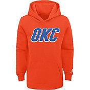 Jordan Youth Oklahoma City Thunder Orange Statement Pullover Hoodie