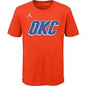 Jordan Youth Oklahoma City Thunder Orange Statement T-Shirt