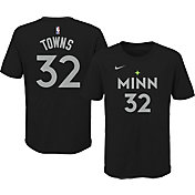 Nike Youth 2020-21 City Edition Minnesota Timberwolves Karl-Anthony Towns #32 Cotton T-Shirt