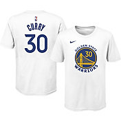 Nike Youth Golden State Warriors Steph Curry #30 Cotton White T-Shirt