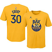 Jordan Youth Golden State Warriors Steph Curry #30 Gold Statement T-Shirt