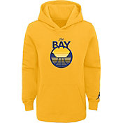 Jordan Youth Golden State Warriors Yellow Statement Pullover Hoodie