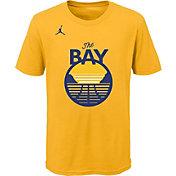Jordan Youth Golden State Warriors Yellow Statement T-Shirt