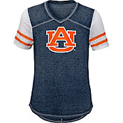 Gen2 Youth Girls' Auburn Tigers Blue Football School Spirit T-Shirt