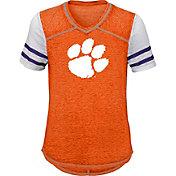 Gen2 Youth Girls' Clemson Tigers Orange Football School Spirit T-Shirt