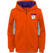 Outerstuff Youth Clemson Tigers Performance Long Sleeve Orange Full-Zip Jacket