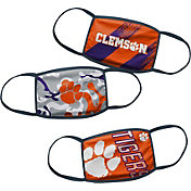 Outerstuff Boys' Clemson Tigers 3-Pack Face Coverings