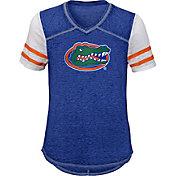 Gen2 Youth Girls' Florida Gators Blue Football School Spirit T-Shirt