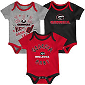 Gen2 Infant Georgia Bulldogs Red Champ 3-Piece Onesie Set
