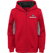Outerstuff Youth Georgia Bulldogs Performance Long Sleeve Red Full-Zip Jacket