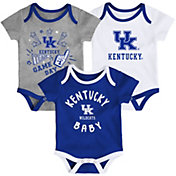 Gen2 Infant Kentucky Wildcats Blue Champ 3-Piece Onesie Set